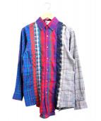 SONIC LAB(ソニックラブ)の古着「セブンカットリメイクチェックシャツ」