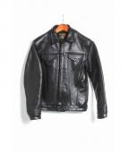 VANSON(バンソン)の古着「DJCB2 レザージャケット」|ブラック
