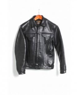 VANSON(バンソン)の古着「DJCB2 レザージャケット」 ブラック