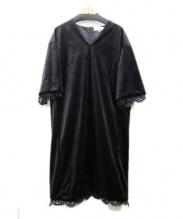 自由区(ジユウク)の古着「ベロアワンピース」|ブラック