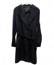 icB(アイシービー)の古着「リネン混コート」|ブラック