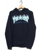 THRASHER(スラッシャ)の古着「フレイムロゴパーカー」|ネイビー