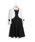 FAERY COCO(フェアリーココ)の古着「ボレロ&ワンピース」|ライトグレー×ブラック