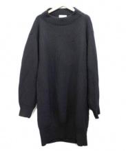 ELENDEEK(エレンディーク)の古着「BIGルーズニットワンピース」|ブラック