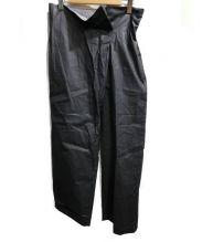 ERIKA CAVALLINI(エリカ カヴァリーニ)の古着「ラップフロントワイドパンツ」|ブラック