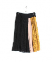 N°21 NUMERO VENTUNO(ヌメロ ヴェントゥーノ)の古着「プリーツスカート」 ブラック