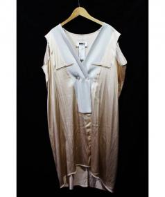 MM6(エムエムシックス)の古着「ロングジレ」|ベージュ