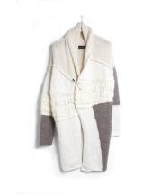 Isabel Benenato(イザベル・ベネナート)の古着「パッチワークデザインカーディガン」 オフホワイト