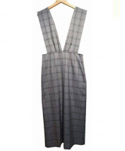IENA LA BOUCLE(イエナ ラ ブークル)の古着「トラッドパターンVネックドレス」|グレー