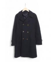 robe de chambre COMME des GARCONS(ローブドシャンブル コムデギャルソン)の古着「ロングコート」 ネイビー