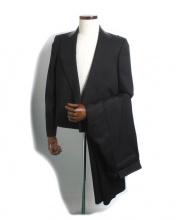 BOTTEGA VENETA(ボッテガヴェネタ)の古着「レザーカラーセットアップスーツ」 ブラック