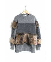 STELLA McCARTNEY(ステラマッカートニー)の古着「Fur-Free Fur Wool Sweater/ニット」 グレー