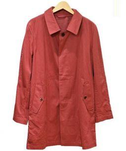 MONTGOMERY(モンゴメリー)の古着「ステンカラーコート」 レッド