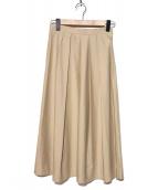TOMORROW LAND(トゥモローランド)の古着「コットンブロードタックロングスカート」|ベージュ