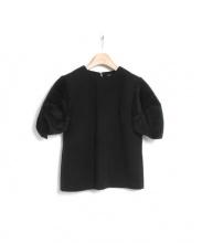 YOKO CHAN(ヨーコチャン)の古着「パフスリーブブラウス」|ブラック