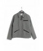 CALEE(キャリー)の古着「ツィードスポーツジャケット」|グレー