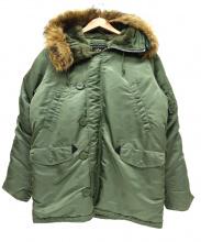 ALPHA(アルファ)の古着「N-3Bタイプコート」|セージグリーン
