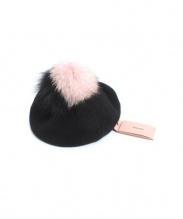 MIU MIU(ミュウミュウ)の古着「ファーニットベレー帽」|ブラック