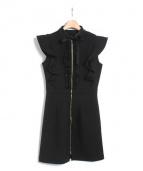 EmiriaWiz(エミリアウィズ)の古着「バックフリルワンピース」|ブラック