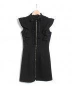 EmiriaWiz(エミリアウィズ)の古着「バックフリルワンピース」 ブラック