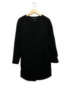 VICKY(ビッキー)の古着「ウールノーカラーダウンコート」|ブラック
