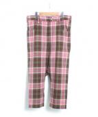 LIMI feu(リミフゥ)の古着「チェックパンツ」|ピンク×グリーン