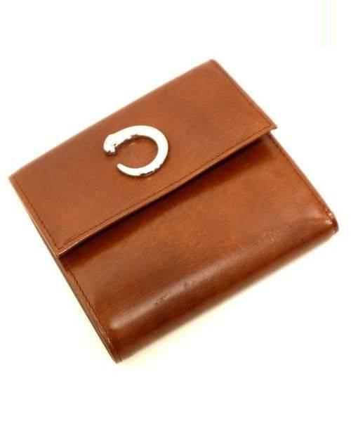 cb89e7121294 中古・古着通販】Cartier (カルティエ) 3つ折り財布 ブラウン パンテール ...