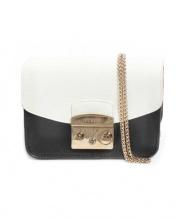 FURLA(フルラ)の古着「バイカラーミニクロスボディバッグ」|ホワイト×ブラック