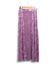 DRWCYS(ドロシーズ)の古着「ベロア切替スカート」|パープル