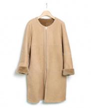 ELFORBR(エルフォーブル)の古着「リバーシブルムートンコート」|ベージュ
