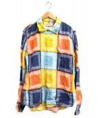 REMI RELIEF(レミレリーフ)の古着「別注花スタッズバンダナシャツ」