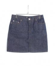 A.P.C.(アーペーセー)の古着「リジットデニムスカート」|インディゴ