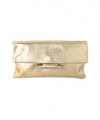 IL BISONTE(イルビゾンテ)の古着「クラッチバッグ」|ゴールド