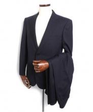 三陽山長(サンヨウヤマチョウ)の古着「ストライプ2Bスーツ」 ネイビー