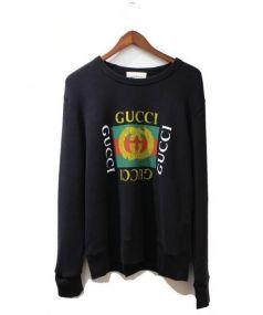 GUCCI(グッチ)の古着「17AW/グッチロゴスウェットシャツ」|ブラック