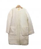 BEAMS HEART(ビームスハート)の古着「ノーカラーコート」|ホワイト
