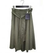 JUSGLITTY(ジャスグリッティー)の古着「バックテールフレアスカート」|オリーブ
