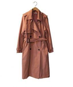 STYLE DELI(スタイルデリ)の古着「トレンチコート」 マカロンピンク