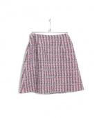 Aveniretoile(アベニールエトワール)の古着「ツイードスカート」 ピンク