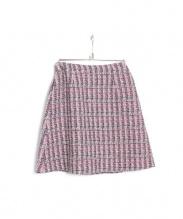 Aveniretoile(アベニールエトワール)の古着「ツイードスカート」|ピンク