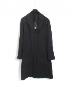 BOTTEGA VENETA(ボッテガヴェネタ)の古着「リネンウールコート」|ネイビー