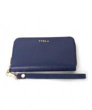 FURLA(フルラ)の古着「ラウンドファスナー長財布」|ロイヤルブルー