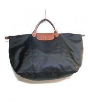 LONGCHAMP(ロンシャン)の古着「プリアージュボストンバッグ」|ブラック