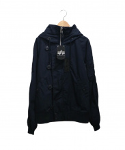 ALPHA×SHIPS GENERAL SUPPLY(アルファ×シップスジェネラルサプライ)の古着「コットンN-2Bジャケット」|ネイビー