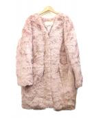 ANOTHER EDITION(アナザーエディション)の古着「テディノーカラーコート」|ピンク