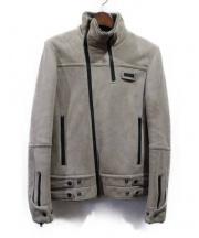 UNDERCOVERISM(アンダーカバーイズム)の古着「ムートンレザージャケット」 グレー