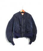 77circa(ナナナナサーカ)の古着「レースアップMA-1ジャケット」|ネイビー