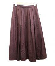 TOMORROW LAND(トゥモローランド)の古着「ウールジャージーフレアスカート」|パープル