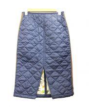 LAVENHAM(ラベンハム)の古着「キルティングタイトスカート」|ネイビー