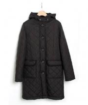 Traditional Weatherwear(トラディショナル ウェザーウェア)の古着「裏ボアキルティングフードコート」|ブラック